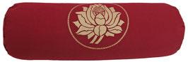 """""""Lotus"""" bordeaux Designer Yoga Bolster Rolle"""