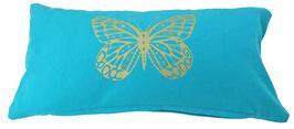 """""""Butterfly"""" türkis Designer Yoga-Universal-Genie Kissen"""
