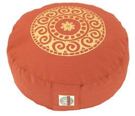 """Designer Meditationskissen Gr.S """"Mandala"""" terracotta"""