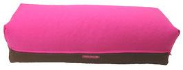 Yoga Bolster eckig pink + braun