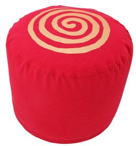 "Designer Meditationskissen Gr.L ""Spirale"" rot"