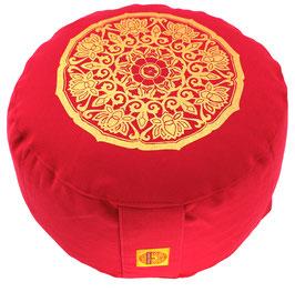"""""""Lotus Kreis """" rot Designer Meditationskissen Gr.M"""