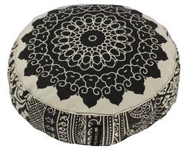 """""""Black + White 1"""" Designer Meditationskissen Yogakissen Gr.S"""