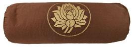 """""""Lotus"""" braun Designer Yoga Bolster Rolle"""