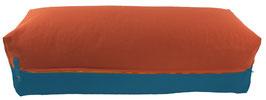 Yoga Bolster eckig terracotta + petrol
