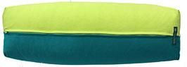 Yoga Bolster eckig hellgrün + petrol