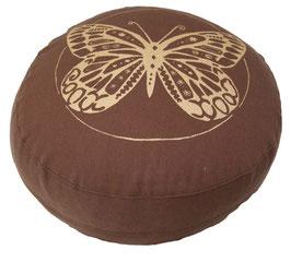 "Designer Meditationskissen Gr.S ""Butterfly"" braun"