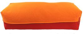 Yoga Bolster eckig orange + rot