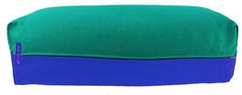Yoga Bolster eckig seegrün + royal