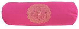 """""""Madras-Blüte"""" pink Designer Yoga Bolster Rolle"""