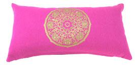 """Lotus Kreis"" pink Designer Yoga-Universal-Genie Kissen"