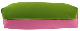 Yoga Bolster eckig kiwi + rosa