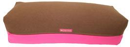 Yoga Bolster eckig braun + pink