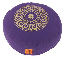 """Designer Meditationskissen Gr.S """"Mandala"""" lila"""