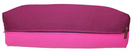 Yoga Bolster eckig  aubergine + pink