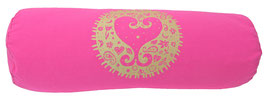 """""""Kismet"""" pink Designer Yoga Bolster Rolle"""