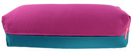 Yoga Bolster eckig  rotviolett + petrol