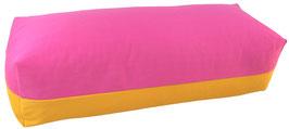 Yoga Bolster eckig pink + sonne