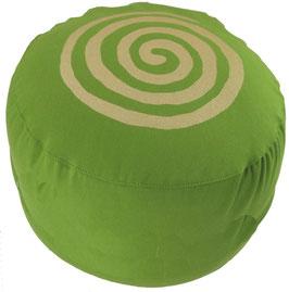 """Designer Meditationskissen Gr.L """"Spirale"""" kiwi"""