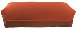 Yoga Bolster eckig terracotta + braun