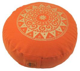 "Designer Meditationskissen Gr.S ""Ur-Mandala Variation"" orange"