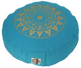 "Designer Meditationskissen Gr.S ""Ur-Mandala Variation"" türkis"
