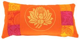 """Orange Lotus Rajastan"" Yoga-Universal-Genie Kissen Kunst"
