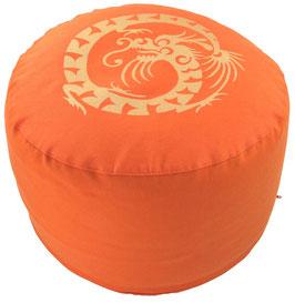 """Designer Meditationskissen Gr.L """"Dragon"""" orange"""