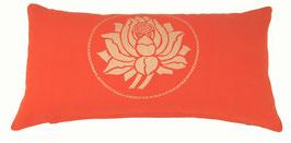 """Lotus"" dunkelorange Designer Yoga-Universal-Genie Kissen"