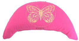 "Designer Halbmond Meditationskissen ""Butterfly"" pink"