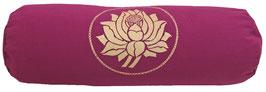 """Lotus"" aubergine Designer Yoga Bolster Rolle"