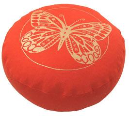 """Designer Meditationskissen Gr.S """"Butterfly"""" dunkelorange"""