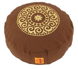 """Designer Meditationskissen Gr.S """"Mandala"""" braun"""