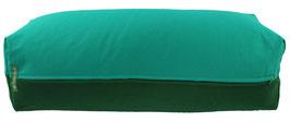 Yoga Bolster eckig seegrün + dunkelgrün