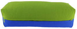 Yoga Bolster eckig kiwi + royal