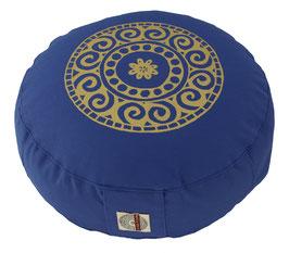 "Designer Meditationskissen Gr.S ""Mandala"" jeansblau"
