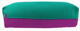 Yoga Bolster eckig seegrün + rotviolett
