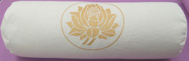 """Lotus"" naturweiss Designer Yoga Bolster Rolle"