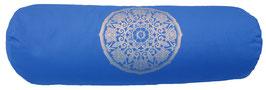 """Lotus Kreis"" jeansblau Designer Yoga Bolster Rolle"