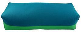 Yoga Bolster eckig petrol + grasgrün