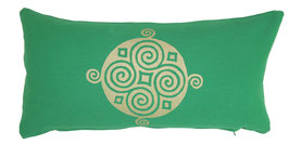 """Four Seasons"" grasgrün Designer Yoga-Universal-Genie Kissen"