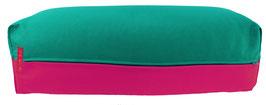 Yoga Bolster eckig seegrün + pink