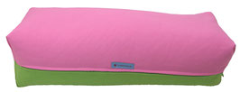 Yoga Bolster eckig rosa + apfel