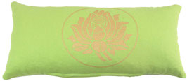 """Lotus"" hellgrün Designer Yoga-Universal-Genie Kissen"