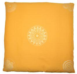 "Designer Meditations-Matte / Zabuton ""curry"" Ur-Mandala Variation"