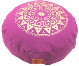 """Designer Meditationskissen Gr.S """"Ur-Mandala Variation"""" rotviolett"""