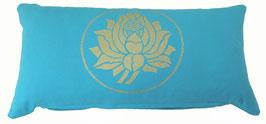 """Lotus"" türkis Designer Yoga-Universal-Genie Kissen"