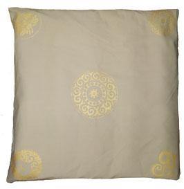 """Designer Meditations-Matte / Zabuton beige """"Mandala"""""""