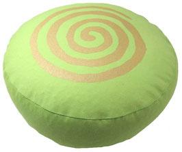 "Designer Meditationskissen Gr.S ""Spirale"" hellgrün"