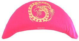 "Designer Halbmond Meditationskissen ""Dragon"" pink"